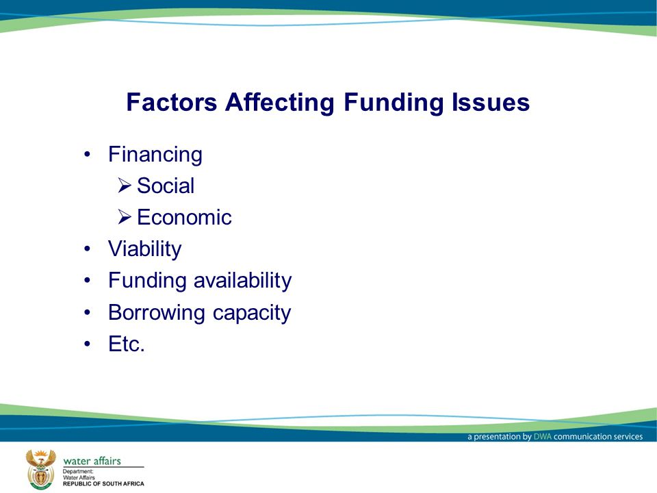 Factors Affecting Funding Issues