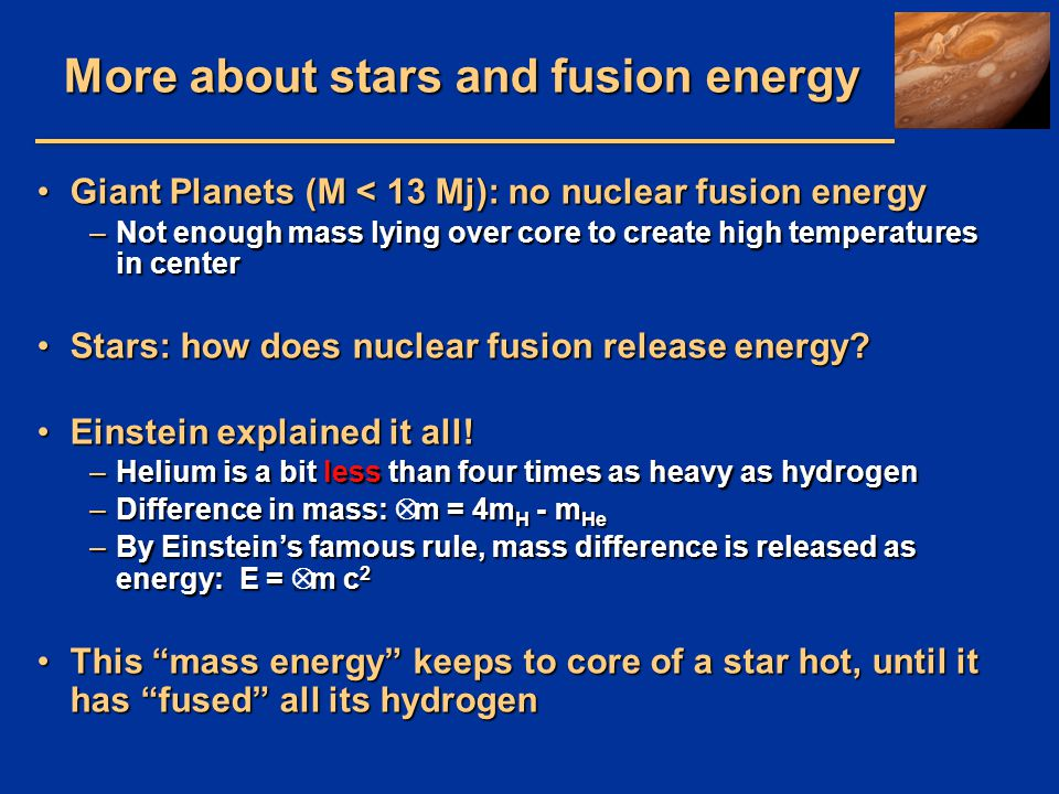 More about stars and fusion energy