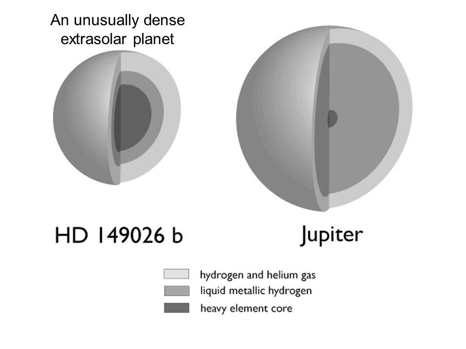 An unusually dense extrasolar planet