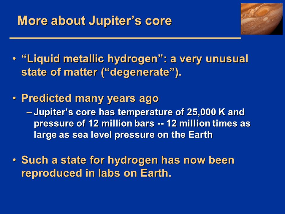 More about Jupiter's core