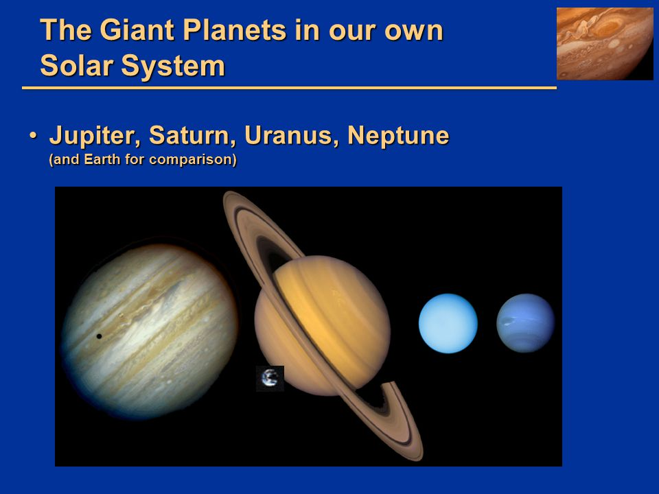 The Giant Planets in our own Solar System