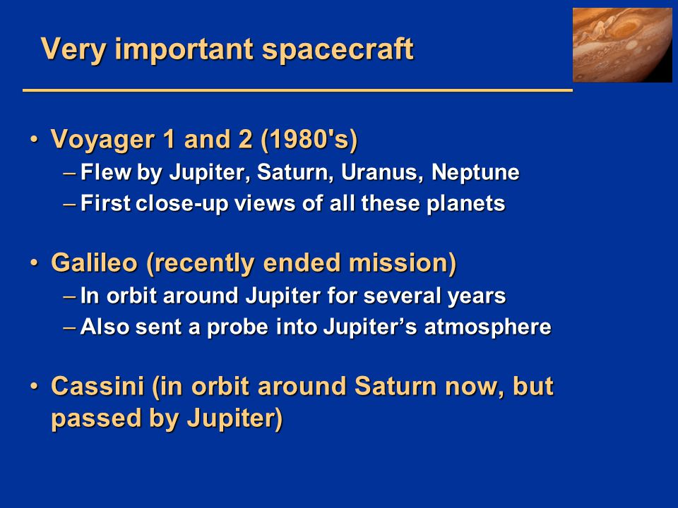 Very important spacecraft