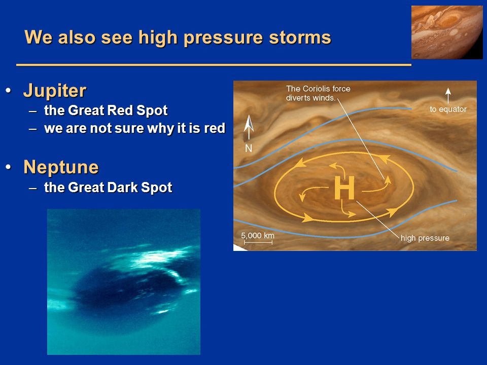 We also see high pressure storms