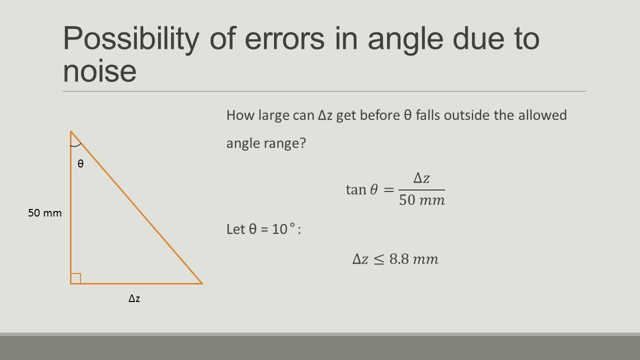 Possibility of errors in angle due to noise