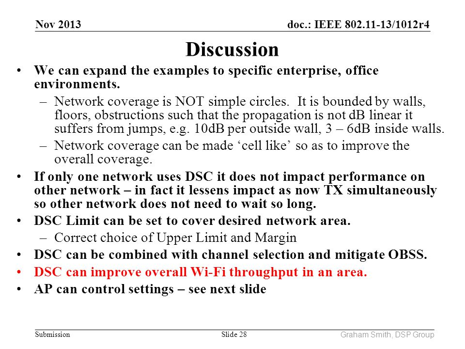 Nov 2013 Discussion. We can expand the examples to specific enterprise, office environments.