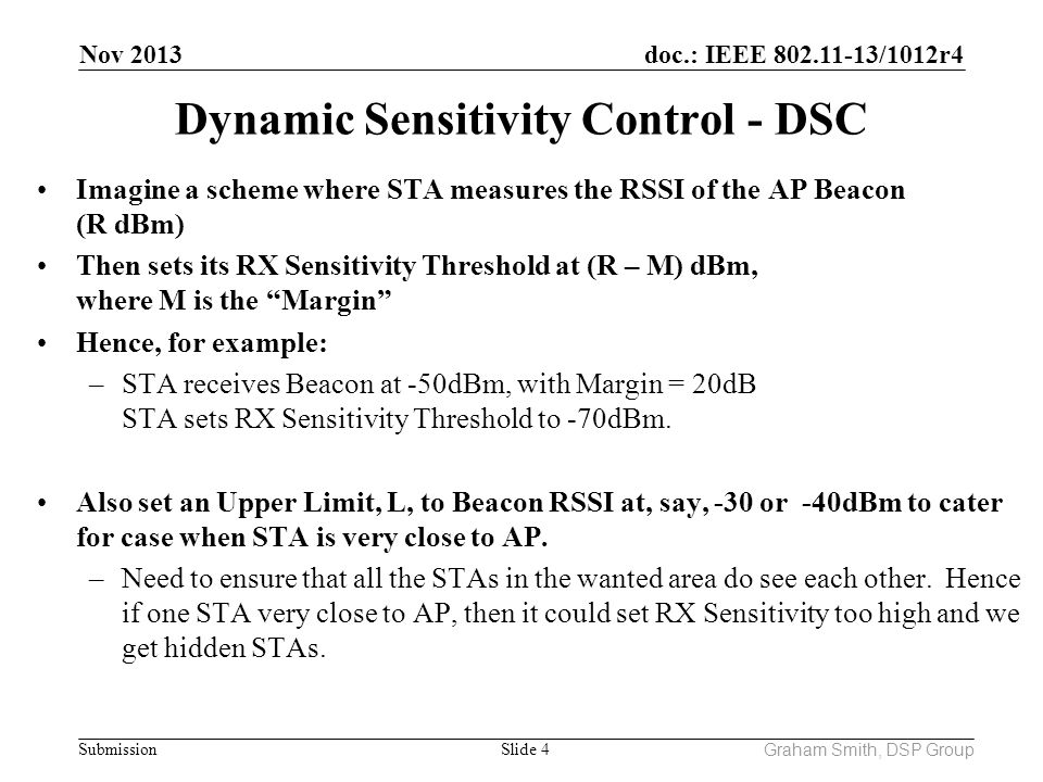 Dynamic Sensitivity Control - DSC