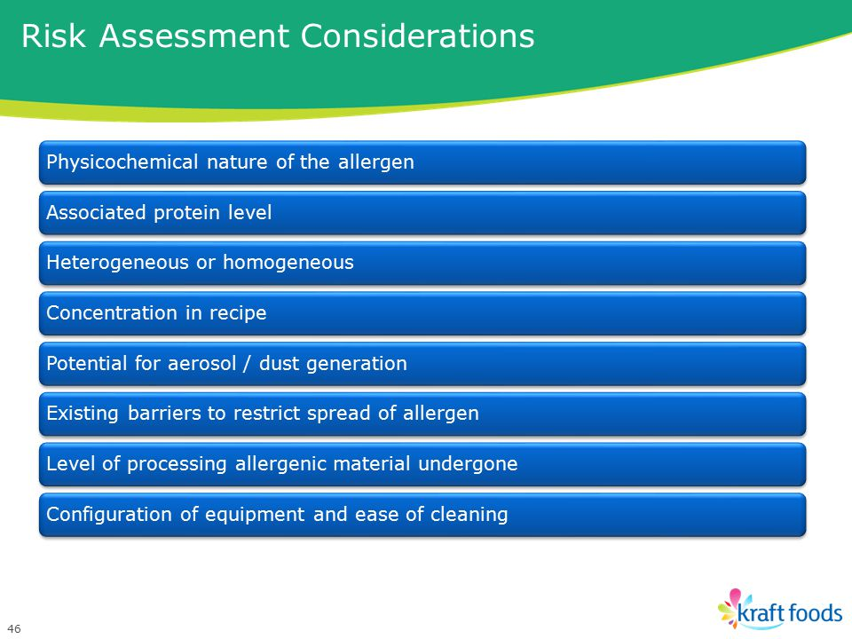 Risk Assessment Considerations