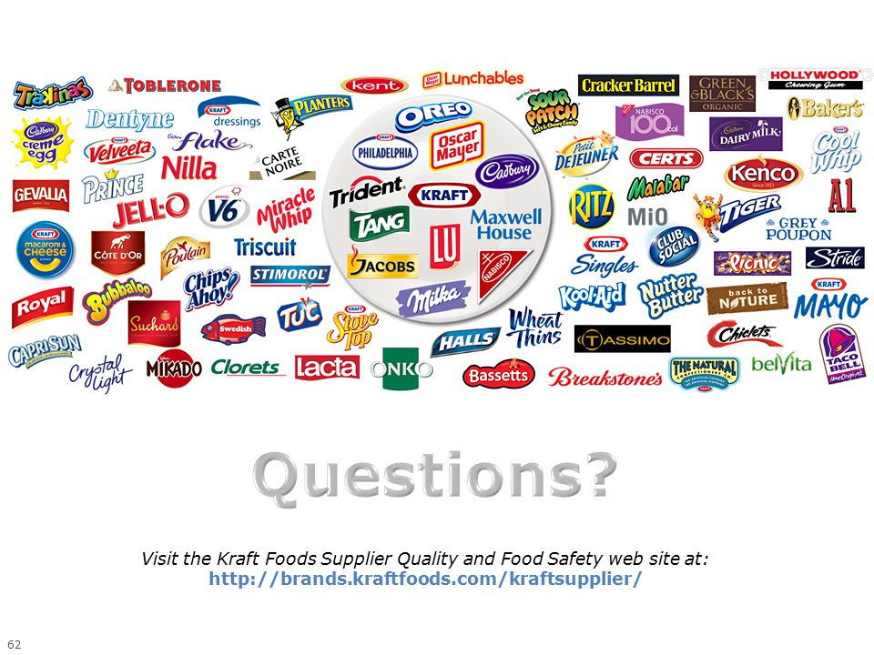 Visit the Kraft Foods Supplier Quality and Food Safety web site at: