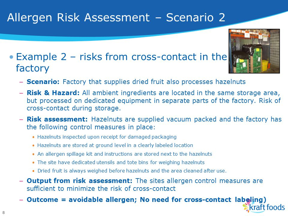 Allergen Risk Assessment – Scenario 2