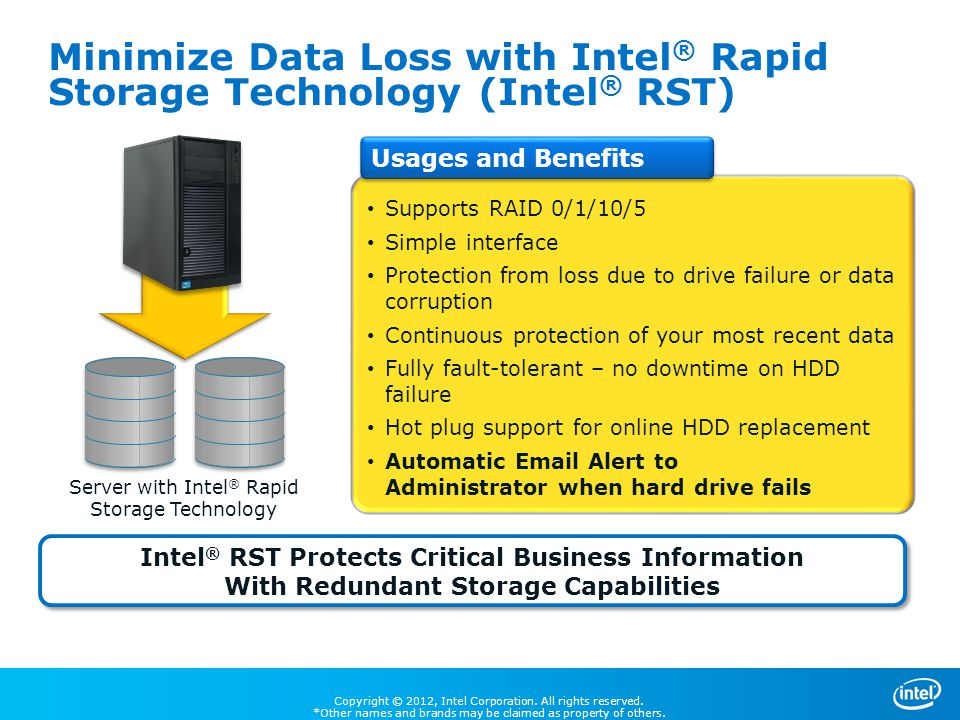 Minimize Data Loss with Intel® Rapid Storage Technology (Intel® RST)