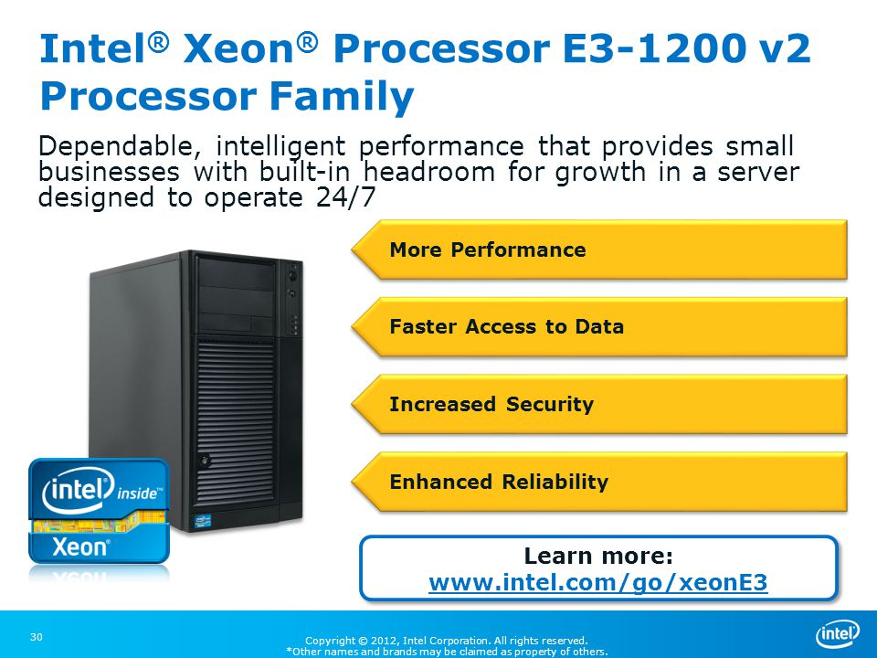 Intel® Xeon® Processor E3-1200 v2 Processor Family