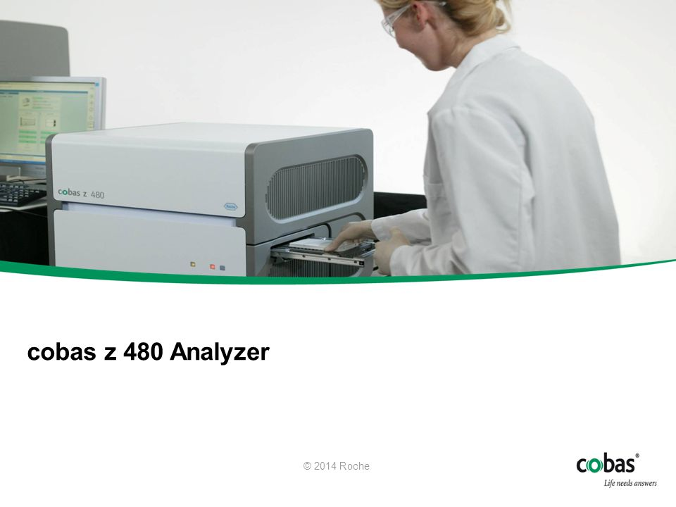 When sample preparation is complete the system instructs the operator to remove the completed AD plate, seal the plate and transfer it to the cobas z 480 analyzer. The barcode on the side of the AD plate assures that positive ID is maintained when the plate is loaded into the cobas z 480 analyzer.