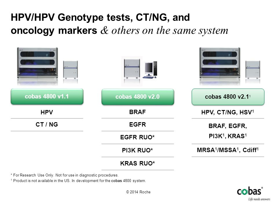 HPV/HPV Genotype tests, CT/NG, and oncology markers & others on the same system