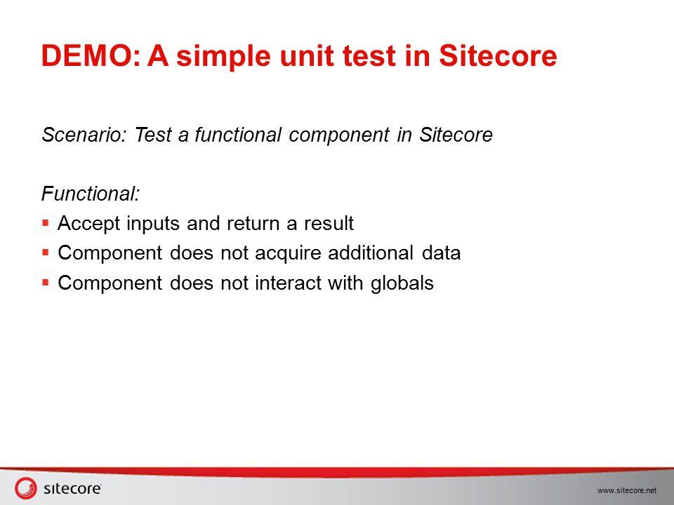 DEMO: A simple unit test in Sitecore