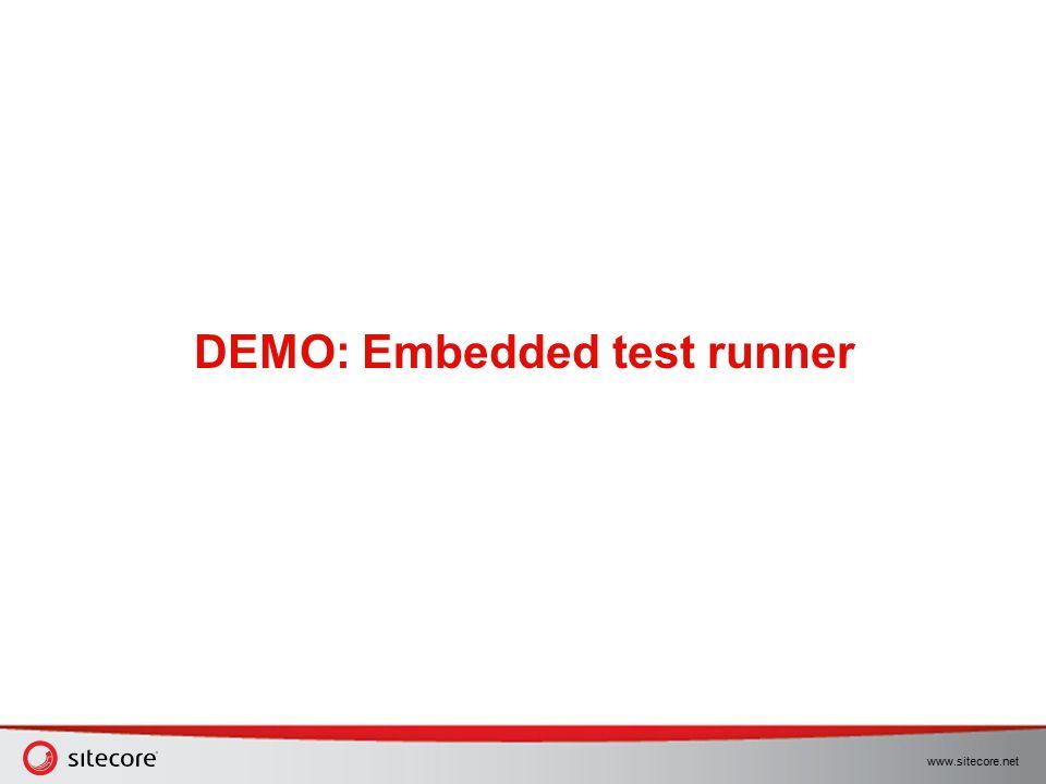 DEMO: Embedded test runner