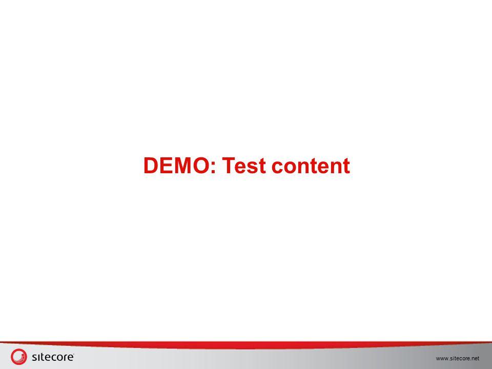 DEMO: Test content