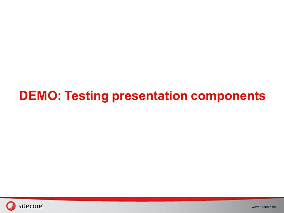 DEMO: Testing presentation components