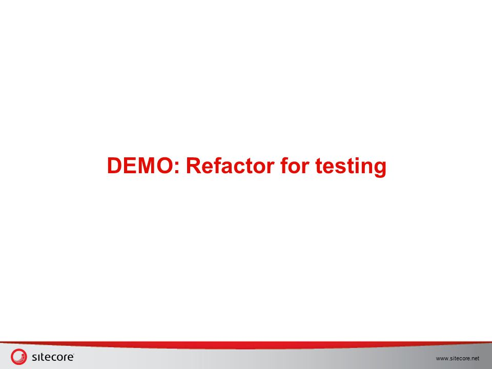 DEMO: Refactor for testing