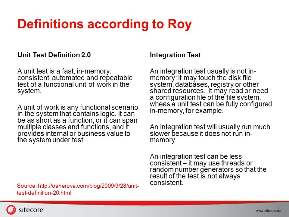 Definitions according to Roy