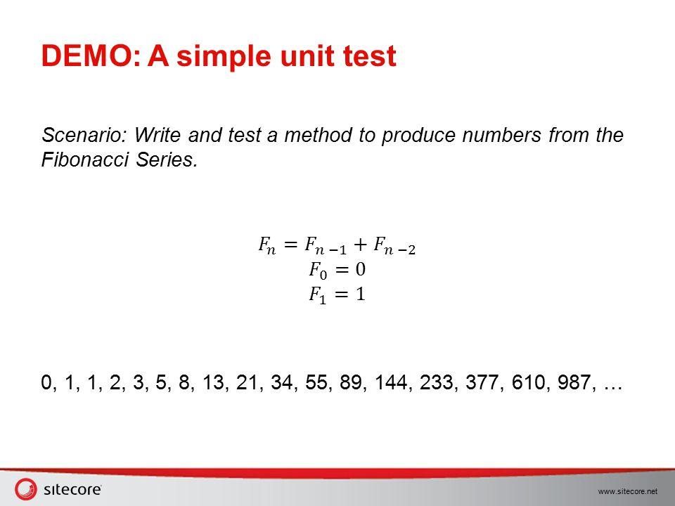 DEMO: A simple unit test