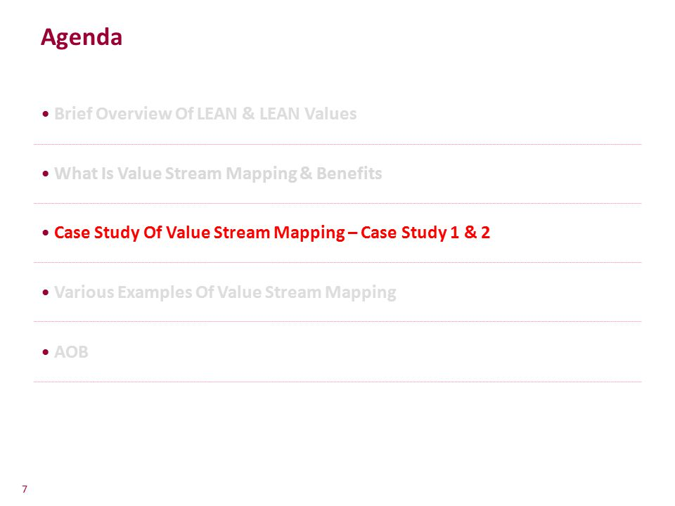 Agenda Brief Overview Of LEAN & LEAN Values