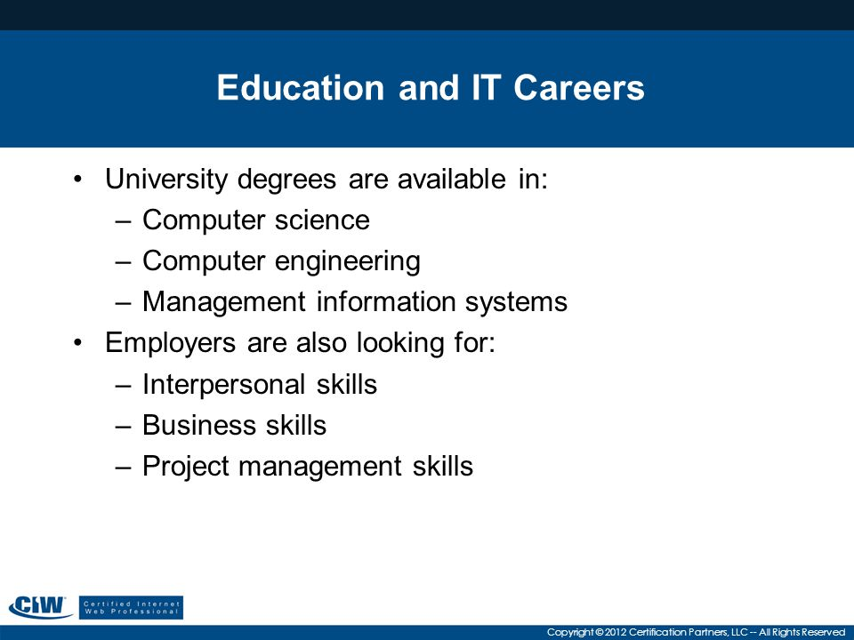 Education and IT Careers