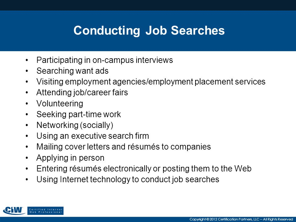 Conducting Job Searches