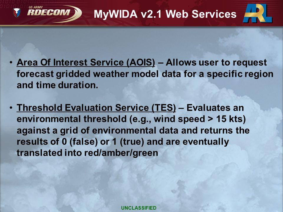 MyWIDA v2.1 Web Services