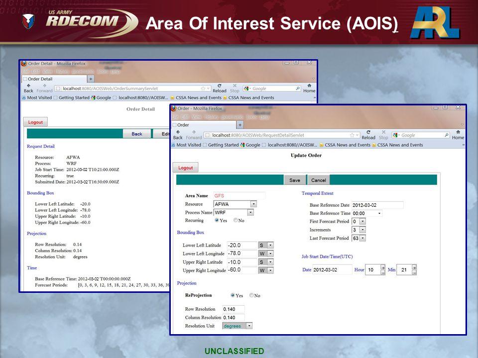 Area Of Interest Service (AOIS)