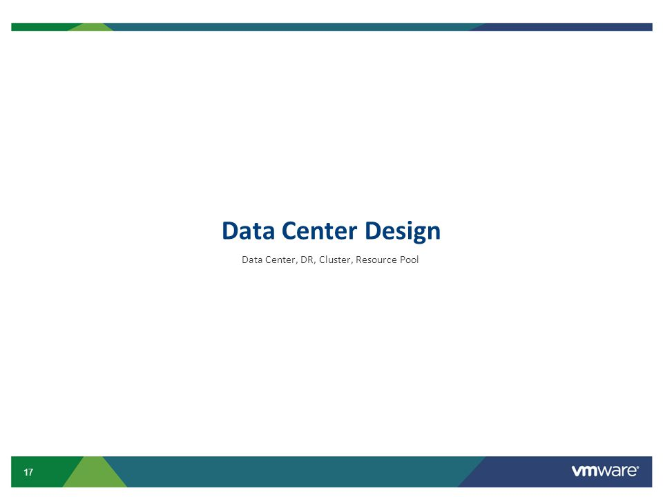 Data Center, DR, Cluster, Resource Pool
