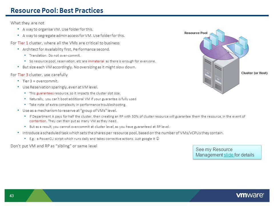 Resource Pool: Best Practices
