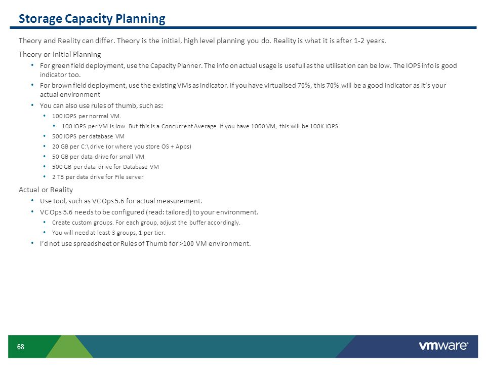 Storage Capacity Planning