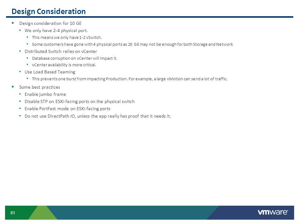 Design Consideration Design consideration for 10 GE