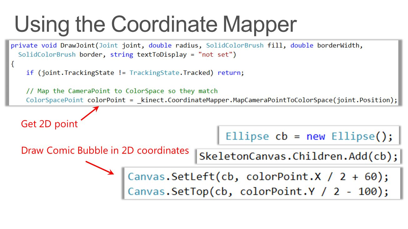 Using the Coordinate Mapper
