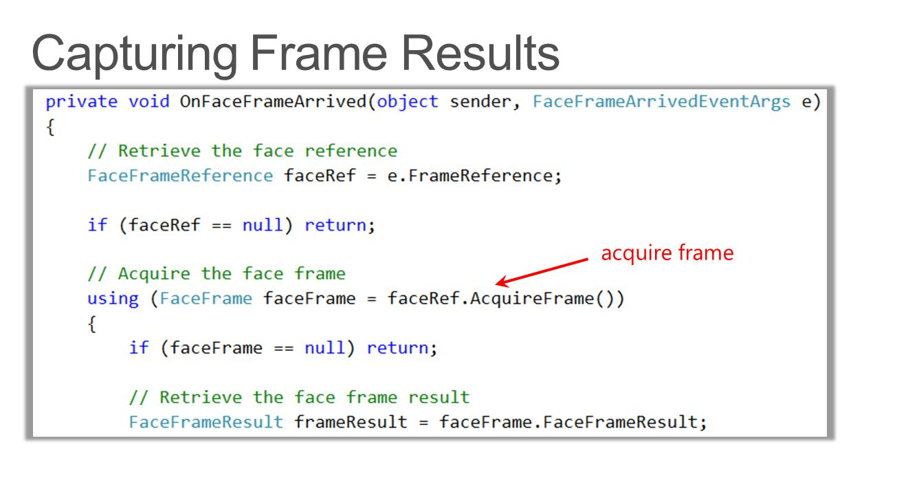 Capturing Frame Results