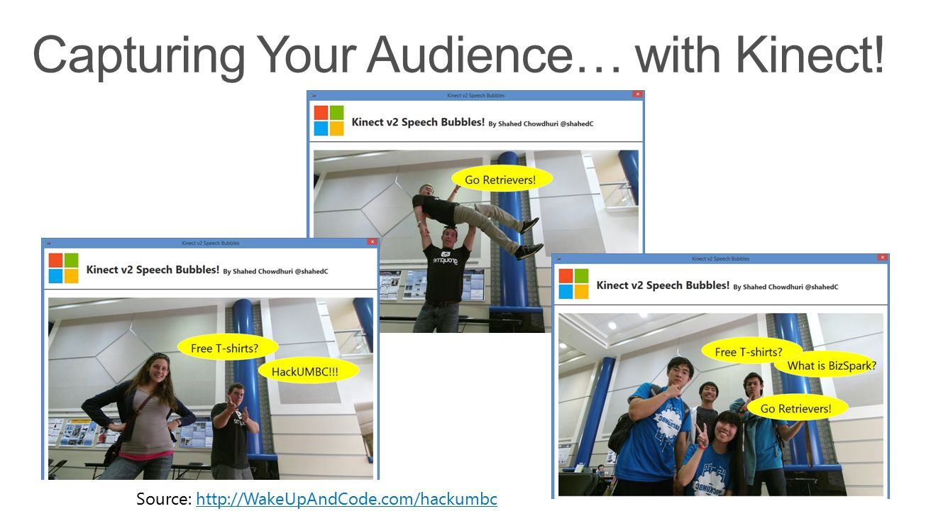 Capturing Your Audience… with Kinect!