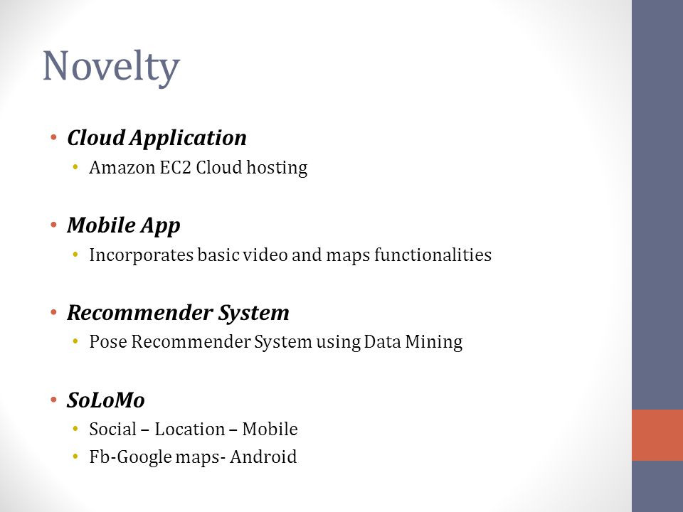 Novelty Cloud Application Mobile App Recommender System SoLoMo