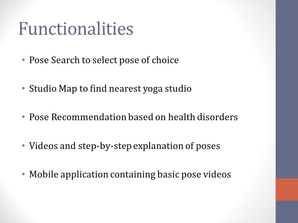 Functionalities Pose Search to select pose of choice