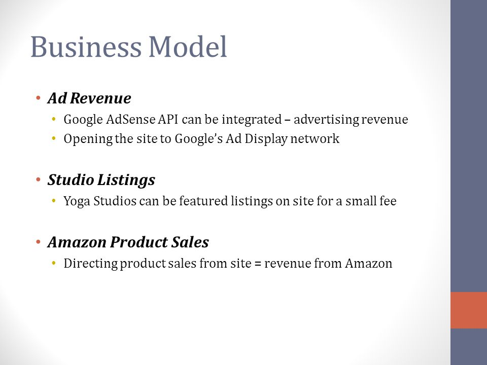 Business Model Ad Revenue Studio Listings Amazon Product Sales
