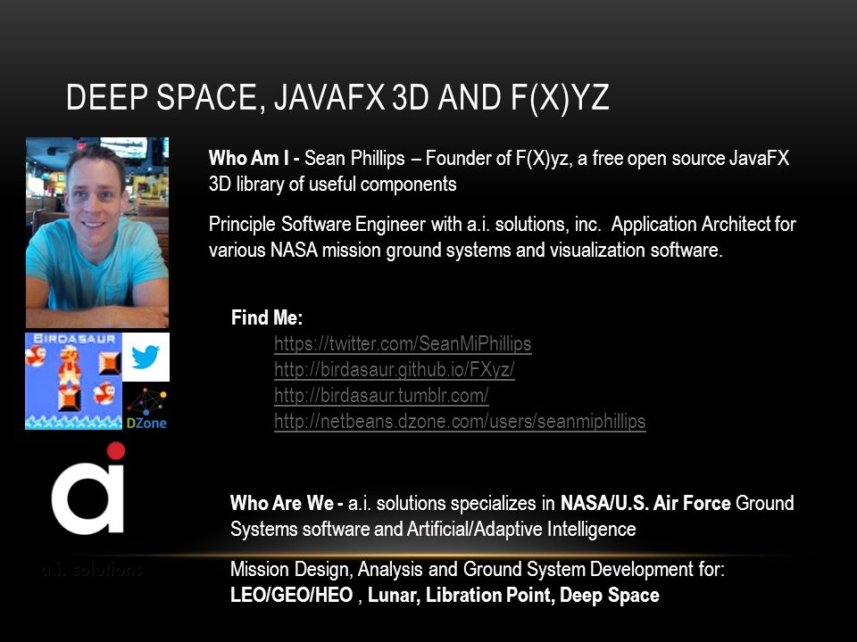 Deep Space, JavaFX 3D and F(X)yz