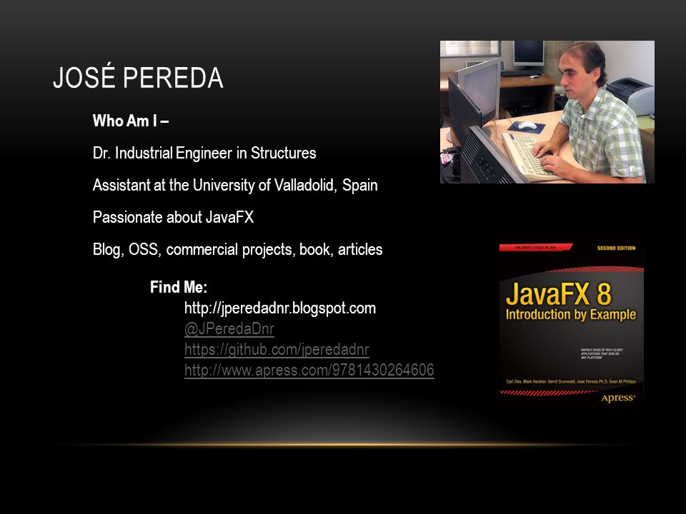 JOSÉ PEREDA Who Am I – Dr. Industrial Engineer in Structures