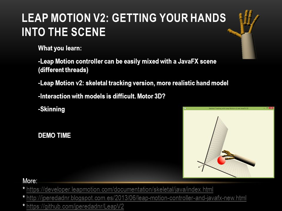 Leap Motion v2: Getting your hands into the scene