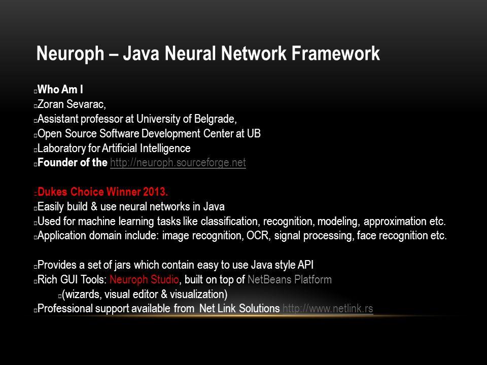 Neuroph – Java Neural Network Framework