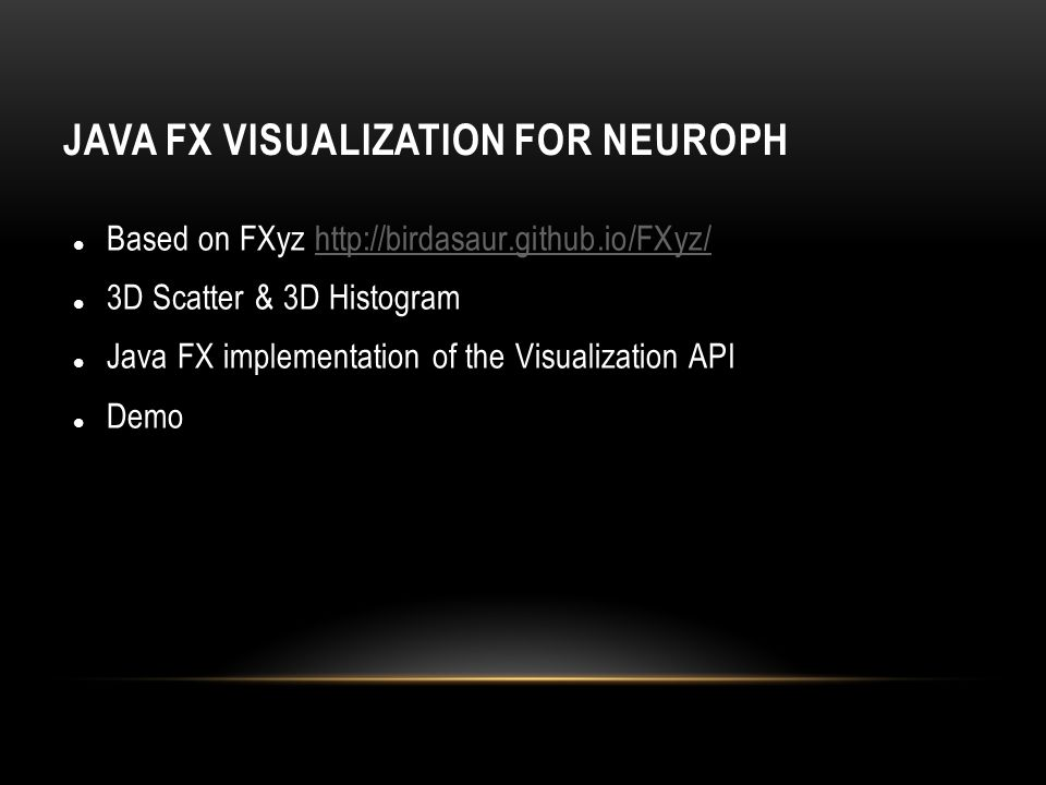 Java FX Visualization for Neuroph