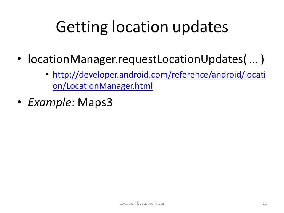 Getting location updates