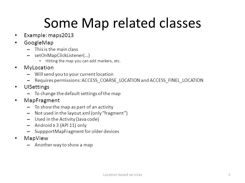 Some Map related classes