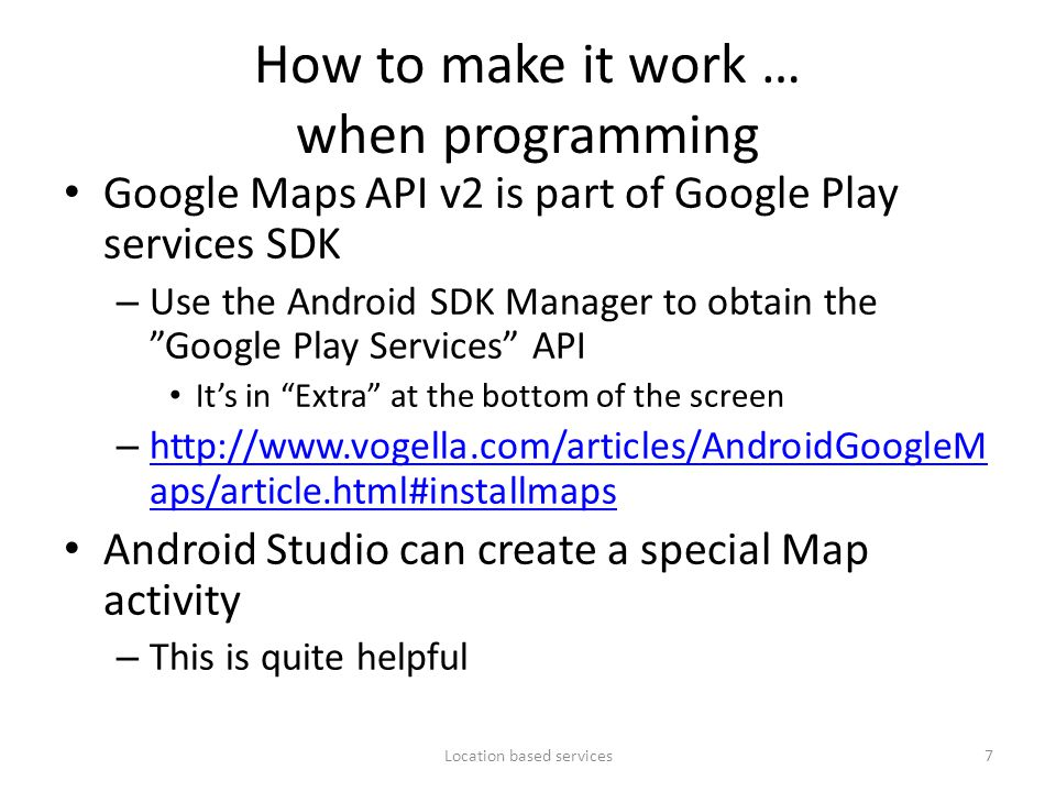 How to make it work … when programming