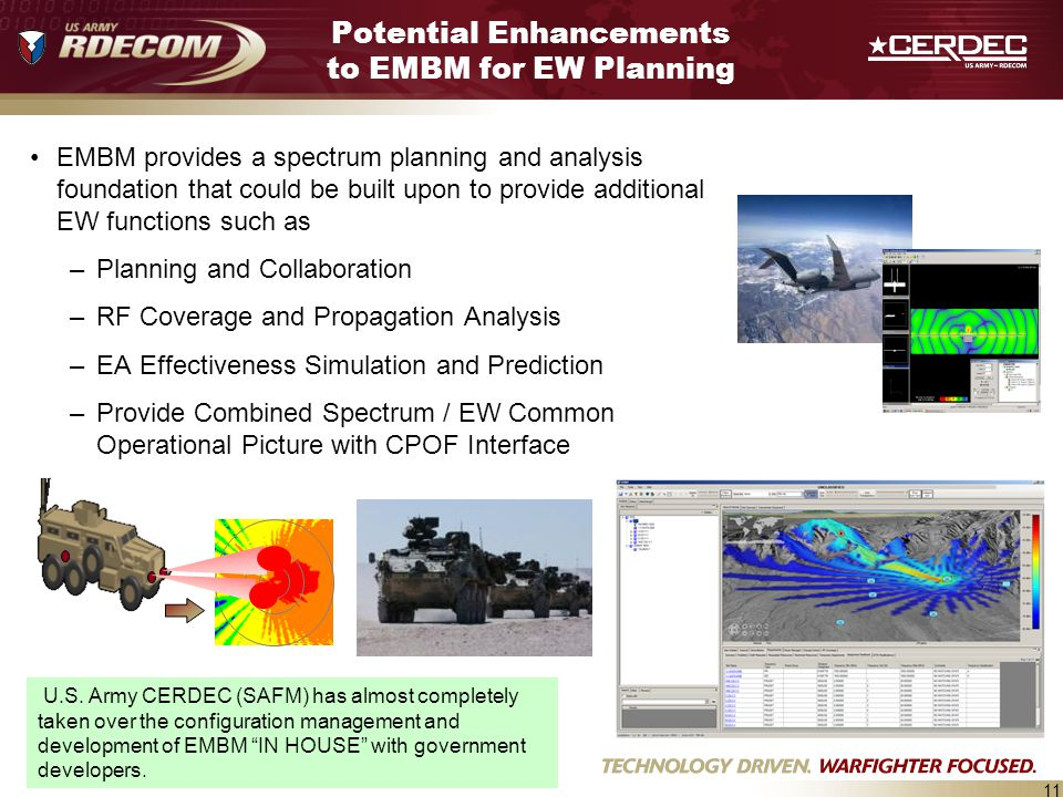 Potential Enhancements to EMBM for EW Planning