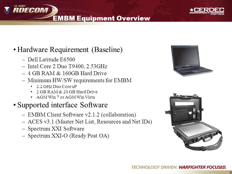 EMBM Equipment Overview