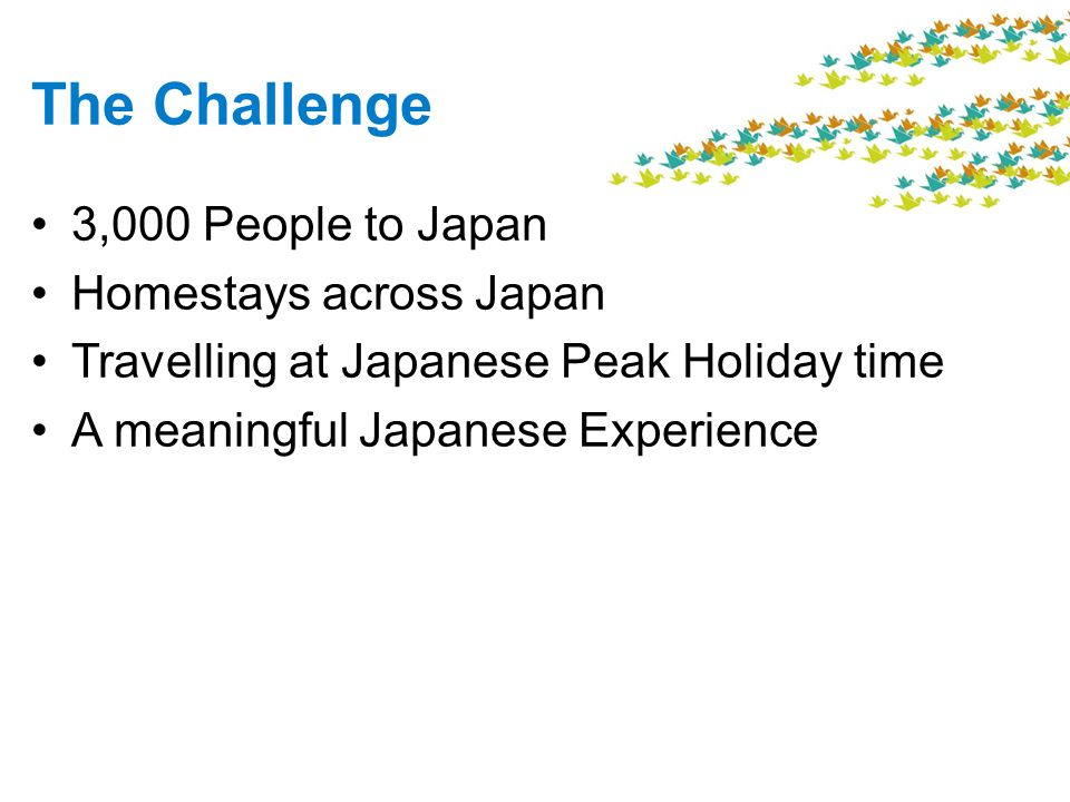 The Challenge 3,000 People to Japan Homestays across Japan